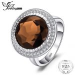 JewelryPalace Luxury Brand 10.27ct Round Natural Smoky Quartz Ring 100% Real 925 <b>Sterling</b> <b>Silver</b> Vintage <b>Jewelry</b> Ring For Woman