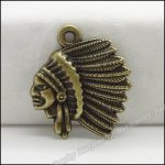 80pcs Vintage Charms <b>Native</b> <b>American</b> Indian Chief Pendant Antique bronze Zinc Alloy Fit Necklace DIY Metal <b>Jewelry</b> Findings