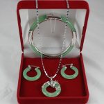 Women' Wedding Exquisite Necklace Set real silver mujer fine quality