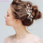 Jonnafe Pearls Hair Accessories <b>Wedding</b> Gold Leaf Brancel Hair Clip Bridal Comb Boho Women Hair Piece <b>Jewelry</b>