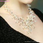 Jonnafe Elegant Silver Pearls Bridal Necklace Earrings <b>Handmade</b> Wedding <b>Jewelry</b> Sets Rhinestone Women Prom <b>Jewelry</b> Accessories