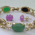 Prett Lovely Women's Wedding Stunning Multicolor gem <b>Jewelry</b> bangle bracelet earrings set silver <b>jewelry</b>
