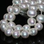 High quality natural white shell pearl beads oval 13*15mm high grade <b>weddings</b> party gift <b>jewelry</b> making loose beads 15inch B2277
