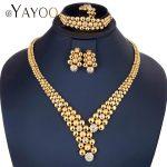 AYAYOO <b>Jewelry</b> Sets Dubai Gold Color African Beads <b>Jewelry</b> Set Wedding Choker Statement <b>Jewelry</b> Sets For Women Jewelery Costume