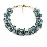 Blue & Pink Chunky Floral Crystal Necklace Perfume Women Bijoux Statement Necklace Party <b>Wedding</b> <b>Jewelry</b> Collier