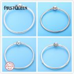 FirstQueen Smooth <b>Silver</b> 925 Basic Snake Chain With Barrel and Heart Clasp Bracelet Fine <b>Jewelry</b> Fits Charms Beads Fine <b>Jewelry</b>