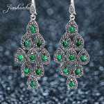 JIASHUNTAI <b>Silver</b> 925 Earrings for Women Red Green Large Peacock Earrings 925 <b>Sterling</b> <b>Silver</b> <b>Jewelry</b> Female