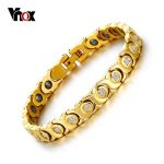 Vnox 2017 New Women Bracelet Bangle Zircon Stone Hematite Magnetic Health Care C <b>Jewelry</b>