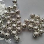 100pcs Laser cut Gold Silver Gunmetal Plated Brass Metal beads 6810mm metal beads,tibetan Beads Crafted <b>supplies</b> findings Spac