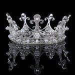<b>Wedding</b> Crowns Alloy Pearl Bridal Tiara Baroque Queen Crown Silver Color Rhinestone Tiaras Crown Headpiece Hair <b>Jewelry</b>