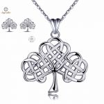Angel Caller 925 Sterling Sliver Jewelry Sets Tree of Life Necklace/<b>Earrings</b> Crann Bethadh Girl Clavicle Necklace Fine Jewelry