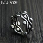 Fyla Mode Original <b>Handmade</b> 999 Sterling Silver Rings New Design Creative Rings Women <b>Jewelry</b> For Party Gift 12.30mm 9.70G