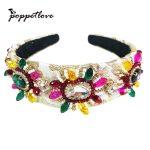 Fashion New Gold Fabric Hair Accessories Queen Princess Bridal Tiaras Crown Pearl Rhinestone <b>Wedding</b> Women Hair <b>Jewelry</b>