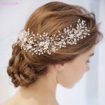 Jonnafe Tiny Beaded Bridal Hair Vine Pearls Headband Silver Wedding Hair Piece Accessories <b>Handmade</b> Women <b>Jewelry</b>