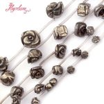 8,10,12,14,16mm Carved Flower Pyrite Beads Natural Stone Beads For DIY Necklace Bracelet <b>Jewelry</b> <b>Making</b> Loose 15″ Free Shipping