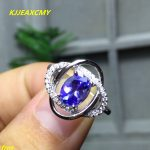 KJJEAXCMY Fine <b>jewelry</b> 925 <b>silver</b> inlaid colorful natural Tanzanite ring women's rings wholesale and retail