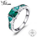 JewelryPalace Caved 1.3ct Nano Russian Simulated Emerald Statement Ring 925 Sterling <b>Silver</b> Brand Fine <b>Jewelry</b> 2018 New Arrivals