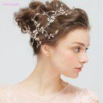 Jonnafe New Freshwater Pearls Hair <b>Jewelry</b> Bridal Headband Gold Leaf <b>Wedding</b> Tiara Hair Accessories Women Prom Headpiece