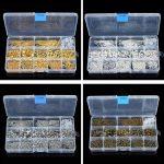 580pcs/Box <b>Jewelry</b> Findings Kit Lobsters Clasp Jump Rings for DIY <b>Jewelry</b> <b>Making</b>