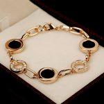 Big Brand Design Classic Black Round Shape Cubic Zirconia Crystal Paved Bracelet Elegant Women <b>Jewelry</b> <b>Accessories</b>