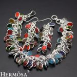 Latest HOT SALE Colorful Chalcedony Exotic Fashion Lady Jewelry 925 Sterling <b>Silver</b> <b>Bracelet</b> & Earrings Set NY176 Free Shipping