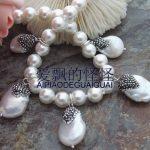 18″ Sea Shell Pearl <b>Necklace</b> Keshi Pearl Pendant