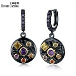 DreamCarnival 1989 New Elegant Design Colors <b>Jewelry</b> for Women Different Shapes CZ Pendientes Gothic Round Drop Earrings WE3762