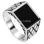 Eulonvan black ring men Black enamel 925 sterling Silver ring SS–3780 sz#7 8 9 10 11 <b>jewelry</b> Noble Generous Engagement <b>Wedding</b>