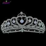 Real Crystals Rhinestone Dangle CZ <b>Wedding</b> Heart Bridal Tiara Crown Hair Accessories <b>Jewelry</b> for Girl SHA8443