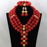 Gorgeous Fuchsia PinkAfrican Beads <b>Jewelry</b> Set <b>Handmade</b> Plastic Balls Nigerian Wedding Beads Necklace <b>Jewelry</b> Set HB3002