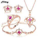 MoBuy Natural Gemstone 4pcs <b>Jewelry</b> Sets 100% 925 <b>Sterling</b> <b>Silver</b> Square Cut Ruby Fine <b>Jewelry</b> For Women Wedding V019AEHNR