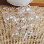 NEW 100pcs glass orbs wish bottle glass vial pendant glass globe DIY <b>making</b> <b>jewelry</b> findings