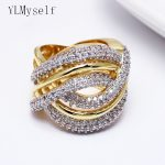 Large Ring Bands Trendy cross lines design Women fashion <b>Jewelry</b> Aneis Anillos Anel Sparkly crystal rings