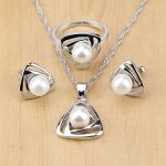 Freshwater Pearl With Beads <b>Jewelry</b> Sets Silver 925 <b>Jewelry</b> Wedding Decoration For Women Earrings/Pendant/Ring/Necklace Set