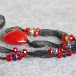 2018 New 30*30 Natural heart Shape Glass&silk Beads Stones Necklace for Women Girls Gifts <b>Jewelry</b> <b>Making</b> Design 30inch Wholesale