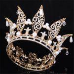 Vintage Pearls Tiara Crown for Women <b>Wedding</b> dress Crowns Headdress Bride <b>Wedding</b> Queen king Tiaras <b>Jewelry</b> Hair Accessories