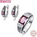 Jrose Brand New 3.54ct Blue CZ Ring Clip <b>Earrings</b> Party Jewelry Set Women Solid 925 Sterling <b>Silver</b> Fine Jewelry Gift Box