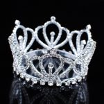 Mini Royal Tiaras Girl Crowns Clear Crystal Austrian Rhinestone Princess Bridal Wedding Prom Party Costumes Hair <b>Jewelry</b>