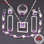 Luxury <b>Silver</b> 925 Jewelry Wedding Necklace Earrings Ring Pendants <b>Bracelet</b> Sets AAA Cubic Zirconia Jewelry Sets For Women