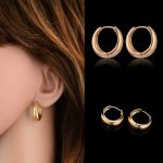 Brand New Trendy Exquisite Round Small Hoop Earrings for Women Girls Gold Color Vintage <b>Jewelry</b> Brinco