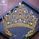 CC big tiaras and crowns baroque style engagement <b>wedding</b> hair accessories for bride fine <b>jewelry</b> high quality water drop XY233