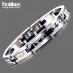 Hottime Fashion Stainless Steel <b>Bracelet</b> Bangle Ceramic <b>Bracelet</b> Black & <b>Silver</b> <b>Bracelet</b> Men's Jewelry 10179