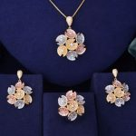 GODKI Flower Floral Fashion Luxury Super AAA Cubic Zirconia Women Engagement Earring <b>Necklace</b> <b>Jewelry</b> Set