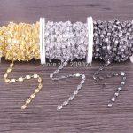 New ~3 Meter Cubic Zirconia Brass Chain,5x5mm Square Beaded Chain,For <b>Jewelry</b> <b>Making</b>