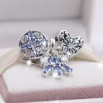 3pcs S925 Sterling Silver Ice Crystal Blue Snowflake Dangle Charms <b>Jewelry</b> Set Fit Bracelets Necklaces <b>Jewelry</b> <b>Making</b> Woman Gift