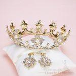 T3 Luxury Gold Tiara Big Crystal Women Crown+earring pearl <b>jewelry</b> Baroque corona marriage hairwear <b>Wedding</b> Accessories xingyao