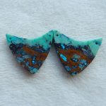 Natural Gemstone Chrysocolla Woman Earrings Beads,<b>Fashion</b> <b>Jewelry</b>,Hot Selling,29x29x3mm,9.4g