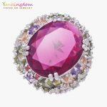 Yunkingdom 31MM Big Cubic Zirconia Fine Rings For Women Ladies Colorful Crystal <b>Wedding</b> Party <b>Jewelry</b>