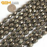 Gem-inside Natural Faceted Drop Teardrop Pyrite Beads For <b>Jewelry</b> <b>Making</b> 8X12mm 15inches DIY Jewellery