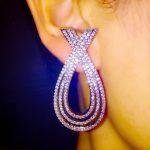 L4.4*W2.2cm AAA cz paved simple design cross shaped big stud earrings ear <b>accessories</b> for women brincos fashion party <b>jewelry</b>